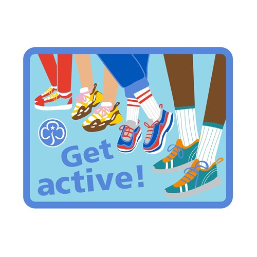 Get active woven badge