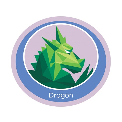 Dragon emblem woven badge