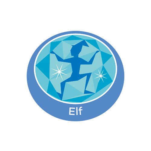 Elf emblem metal badge