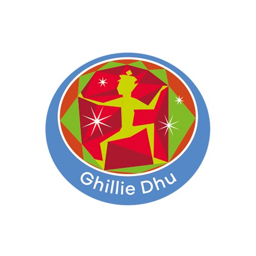 Ghillie Dhu emblem metal badge