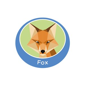 Fox emblem metal badge