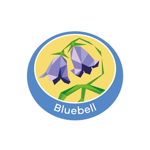Bluebell emblem metal badge