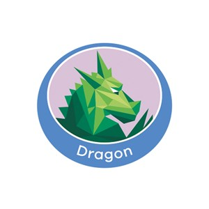 Dragon emblem metal badge