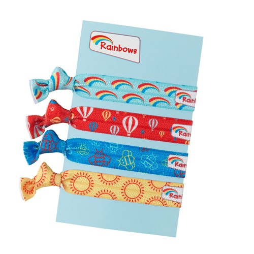 Rainbows wristbands pack of 4