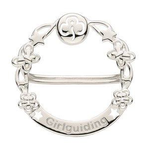 Silver Girlguiding scarf ring Kit Heath