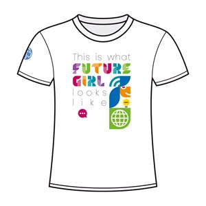 White Future Girl t-shirt for adult