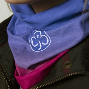Girlguiding snood on model
