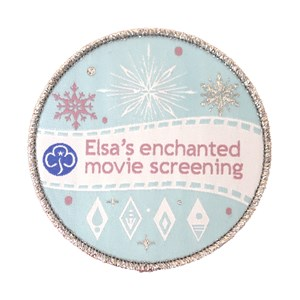 Elsa's enchanted screening woven badge